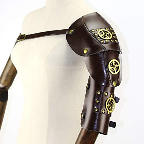 MATCHANT Gothic Steampunk Adjustable Arm Strap Body Chest Harness Shoulder Armors Cosplay Metal Rivets Accessory Decor Beefy and Aggressive Look Club Wear Costumes (Color : -