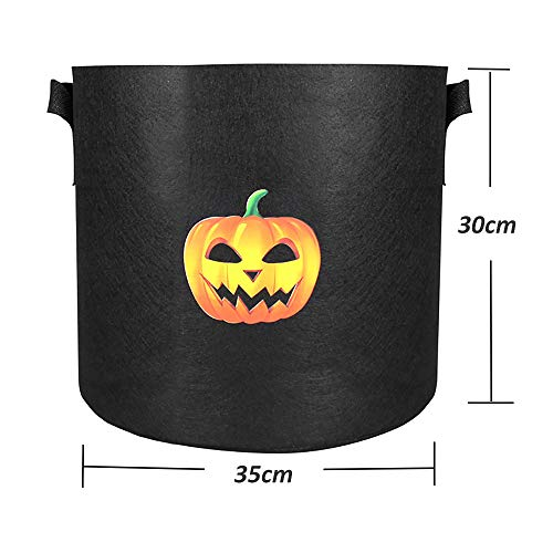 aeepd 7 Gallon Plant Vegetable Grow Bags with Handles 5 Pack Garden Planter Container for Tomato Potato Carrot Air Plant