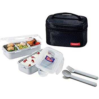 Amazon Com Locknlock Clover Combo Lunch Box Set With Bag