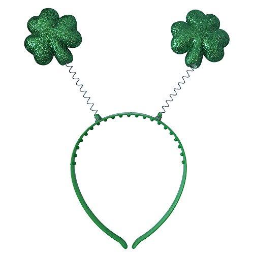 OLABB ST Patrick's Day Boppers Glittered Shamrock (Headband Accessory)