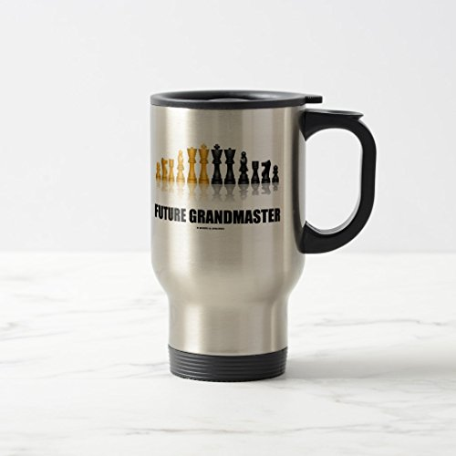 Zazzle Future Grandmaster (chess Set) Coffee Mug, Stainless Steel Travel/Commuter Mug 15 - Set Chess Steel Stainless