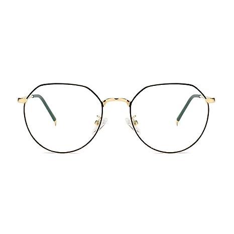 Yangjing-hl Personalidad Montura metálica Arte Retro Gafas ...