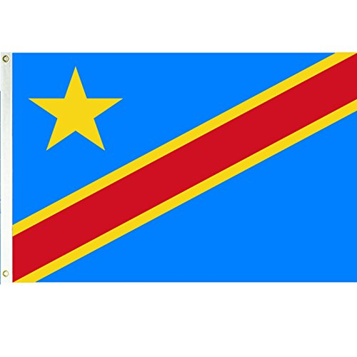 3x5 Democratic Republic of Congo Flag African Country Banner Pennant Outdoor (Republic Flag Country)
