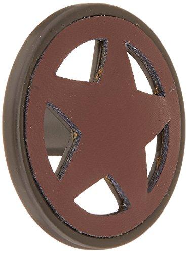 Laurey 26566 Cabinet Hardware Star Knob, Light Brown Leather - Laurey Stars