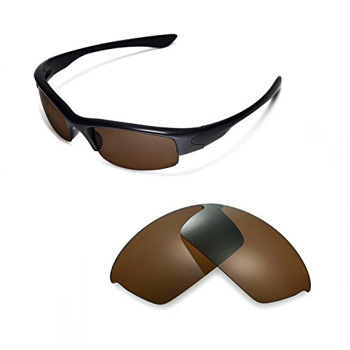 Walleva Replacement Lenses for Oakley Bottlecap Sunglasses -13 Options (Brown - Polarized)
