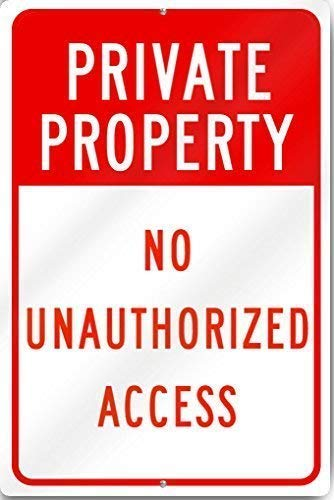 Vincenicy Metal Sign Great Aluminum Tin Sign Private Property No Unauthorized Access Sign Heavy Metal 8 X 12 Inch