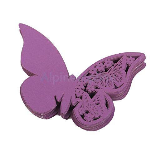 50 Lasercut Butterfly Wine Glass Place Card Wedding Baby ...