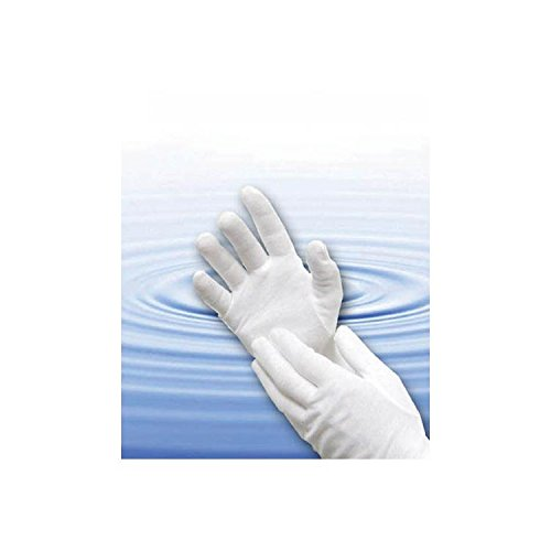 Cara Bulk Cotton Gloves - White Medium Bx/12 pr