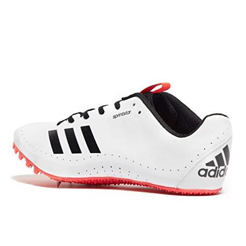 rouge Scarpe Da noir Chiodate Adidas Velocità Blanc Flash Sprintstar 7qUn44