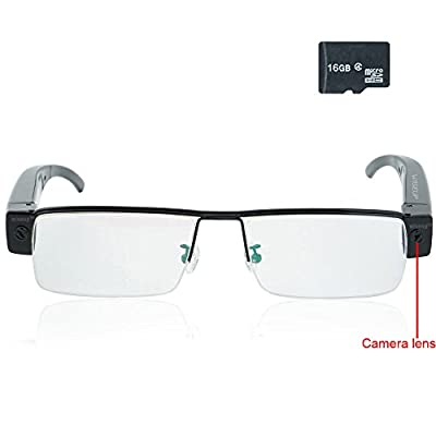 Wiseup™ 16GB 1920x1080P Wearable Hidden Camera Glasses Mini DV Camcorder Video Recorder
