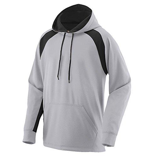 Augusta Sportswear 5527 Men's Fanatic Hooded Sweatshirt Athletic Grey/Black XS