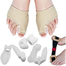 Bunion Corrector Bunion Relief Protector Kit of 9pcs Toe Separator - Relieve Pain in Hallux Valgus, Tailors Bunion, Big Toe Joint, Hammer Toe, Bunion Pad Splint, Toe Spacer Straightener by Blisstime