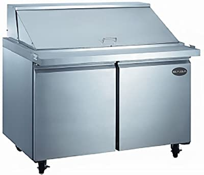 "Heavy Duty Commercial Stainless Steel Mega Prep Table Refrigerator Cooler 2 Door 48"""
