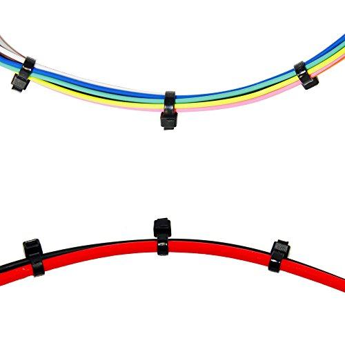 250 Premium Heavy Duty 10 Inch Zip Ties | Black Nylon Cable Ties | XGS Wire Ties by APTronix (10 Inch, Black) by APTronix (Image #3)