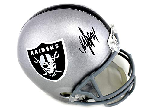 - Marshawn Lynch Autographed/Signed Oakland Raiders Riddell NFL Full Size Helmet
