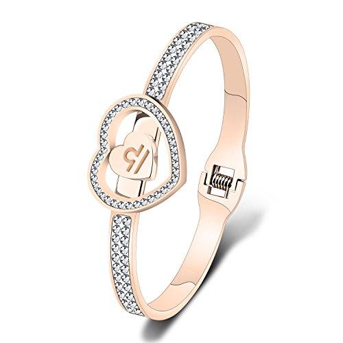 Rose Gold Zodiac Bracelets 12 Zodiac Sign Bracelet with Zircon Birthday Gift for Her Constellation Jewelry (Libra) ()