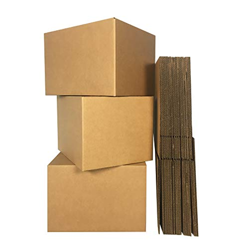 - uBoxes Medium Moving Boxes, 18 x 14 x 12 inch, 10 Pack, Cardboard Box (BOXMINIMED10)