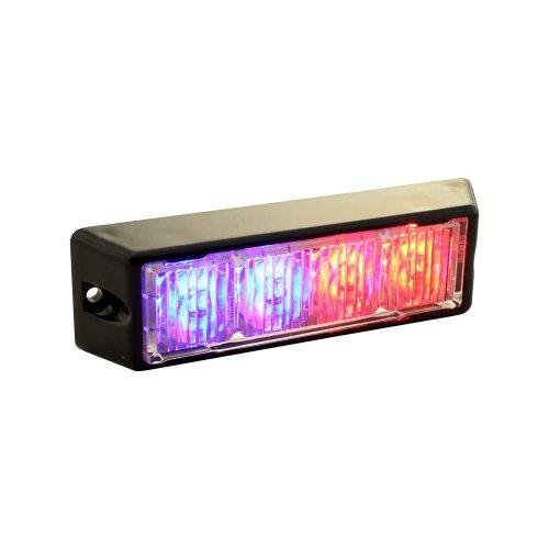 LAMPHUS SolarBlast SBLH04 LED Strobe Grille Flashing Lights [22 Modes] [4 Watt] [TIR] [Weatherproof] Warning Lights for Police & Firefighter Emergency Vehicles - Blue/Red