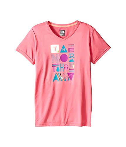 (The North Face Kids Short Sleeve Reaxion Tee Little Kids/Big Kids Cha Cha Pink Girl's Short Sleeve Pullover)