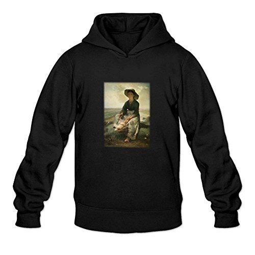 reder-mens-jean-francois-millet-young-shepherdess-sweatshirt-hoodie-xl-black
