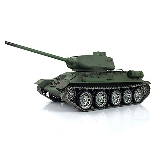 1/16 Scale Remote Control RC Tank, HengLong 1/16 Russian T34-85 RTR RC Tank Metal Road Wheels Customized Ver 3909