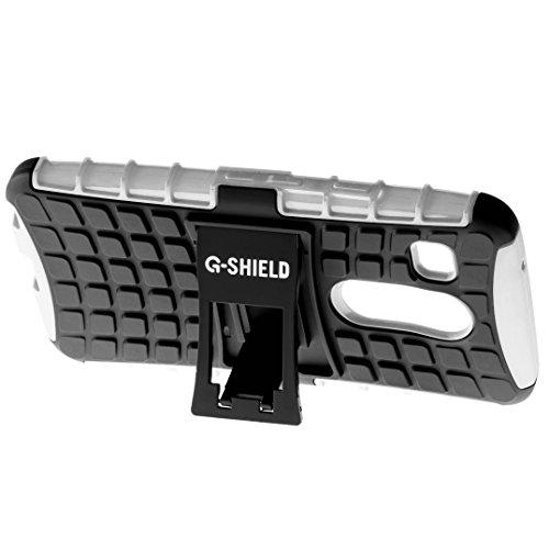 Funda Nexus 5X, G-Shield Carcasa Extremo Protección [Con Soporte] [Anti-Arañazos] [Anti-Choque] [Muy Resistente] Híbrida a Prueba de Golpes Case Cover Para LG Google Nexus 5X - Rojo Blanco