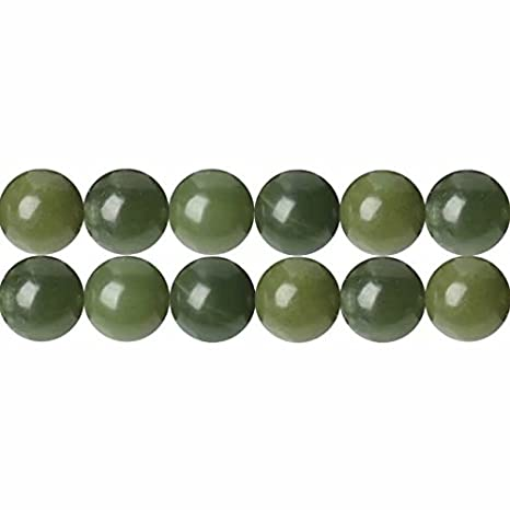 Jade Kugeln Perlen grün transparent 10mm 1 Strang