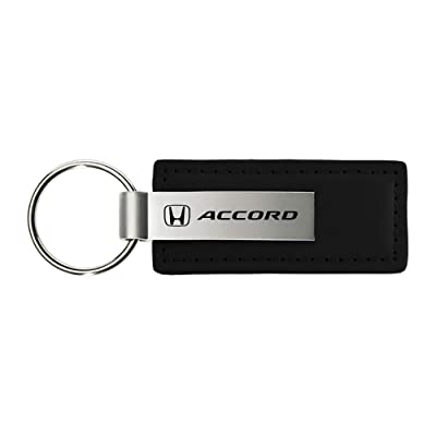 Honda Accord Black Leather Key Chain, Official Licensed Product: Automotive