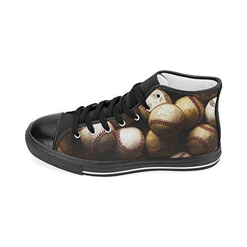 D-story Anpassade Baseball Mens Klassiska Hög Topp Tygskor Mode Sneaker
