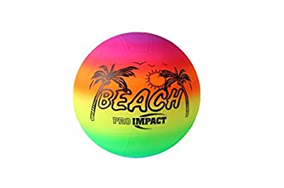 Pro Impact Premium Quality PVC Beach Volleyball Official Size Beach Outdoor Volleyball 200 GMS by Pro Impact