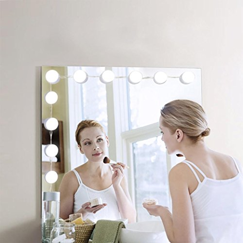 Hollywood Lights Beverage - Makeup Mirror Lights Hollywood Style-lotus.flower 10 LED Vanity Mirror Lights-for Makeup Dressing Table-with Touch Dimmer and Power Supply Plug(Mirror Not Included) (10Pcs)