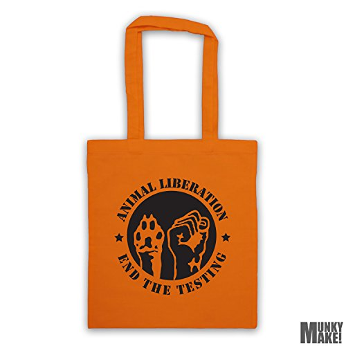 the different ANIMAL testing LIBERATION tote bag Orange end colours ETqAY