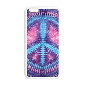 """super shining day Peace Sign Tie Dyes TPU Material Phone Back Case Compatible with iPhone 6 Plus 5.5"""""""