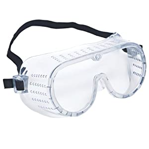 Crews 2220 Safety Goggles, Perforated Clear Lens
