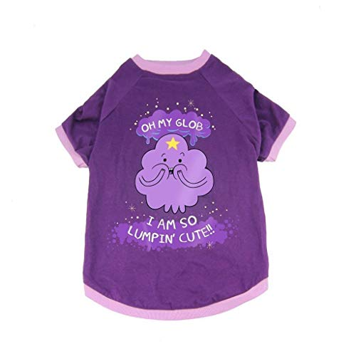 Adventure Time Dog Costume T-Shirt BMO Lumpy Space Princess Halloween Purple New by Crowded Coop ()