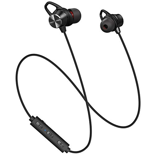 Bluetooth Headphones, Dostyle Magnetic Wireless Earbuds HiFi Stereo Sport In-Ear Sweatproof Earphones w/Mic (Snug Fit, 9 Hrs Playtime, Noise Cancelling)Compatible for iPhone Samsung and Android Phones