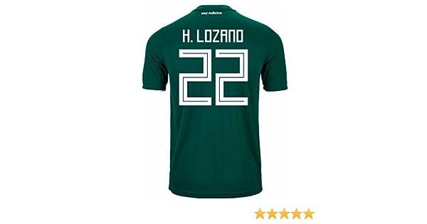 b5d5cec1dc4 Amazon.com : adidas H. Lozano #22 Mexico Home Soccer Stadium Men's Jersey  World Cup Russia 2018 : Sports & Outdoors