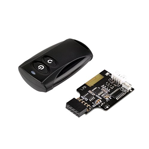 SilverStone Technology 2.4G Wireless Remote Computer Power/Reset Switch, USB 2.0 9-pin Interface ES02-USB