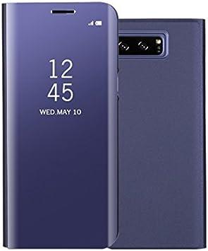 COVO® Funda para Samsung Galaxy Note 8 Espejo Flip Case Espejo ...