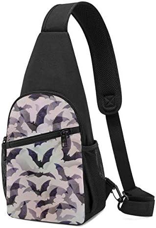ボディ肩掛け 斜め掛け ハロウィン コウモリ ショルダーバッグ ワンショルダーバッグ メンズ 軽量 大容量 多機能レジャーバックパック