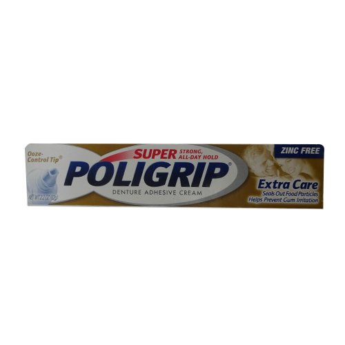 Super Poligrip Extra Care with Poliseal, 2.2-Ounce Packages (Pack of 3)