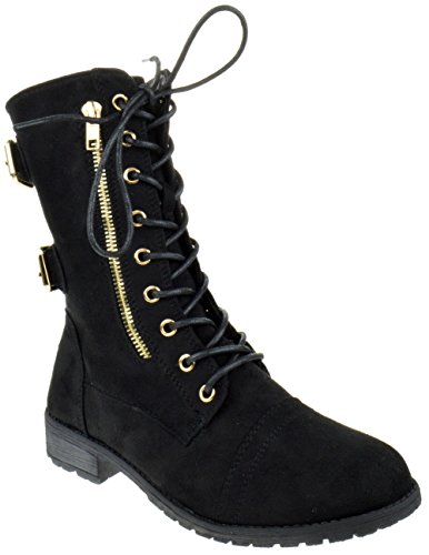 Suede Moda Black 72 Top boots Pack XHwqn1R