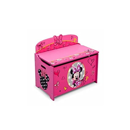 Amazon.com: Disney Minnie Mouse Deluxe Toy Box Chest, Pink: Baby