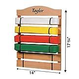 Fox Valley Traders Personalized Karate Belt Rack