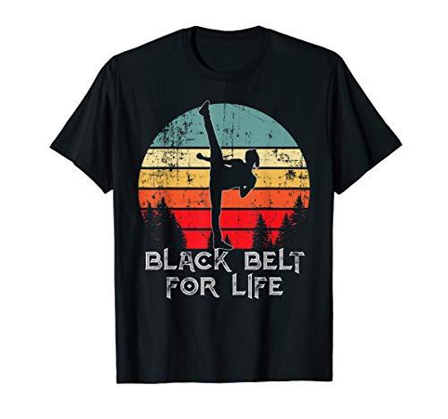 Black belt life vintage Taekwondo TKD Martial Art Daughter T-Shirt