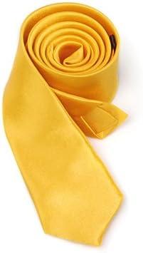Dasing Unisex Cravatta Casuale Sottile Cravatta Stretta Oro Giallo Solido