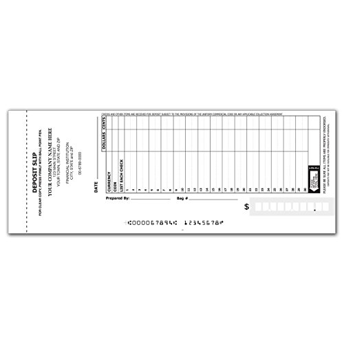 30 Line Booked Deposit Slips Business product image