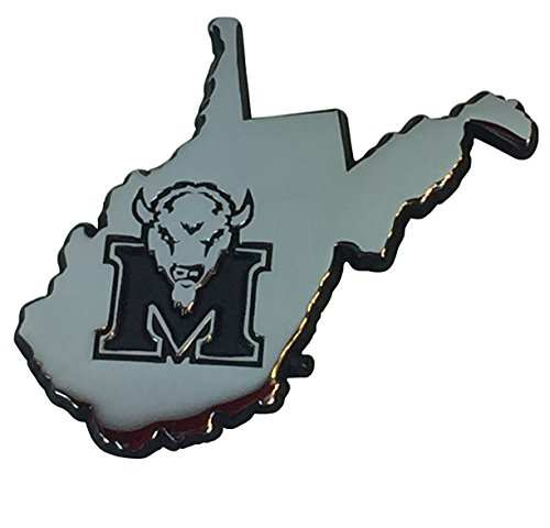 Marshall University METAL Auto Emblem (state shaped) (Marshall University Auto compare prices)