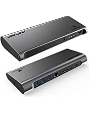 WAVLINK Thunderbolt 3 Docking Station with 85W Charging, Thunderbolt 3 Dock for Laptop, Display Port 4K@60Hz, Gigabit Ethernet, SD Card Reader, 4XUSB 3.0 Ports for Mac/Windows/Thunderbolt Laptops