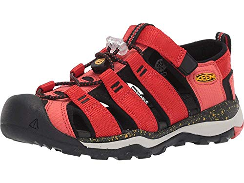 KEEN Youth Newport NEO H2, Fiery RED/Golden Rod, 5 M - Youth Newport Sandals H2